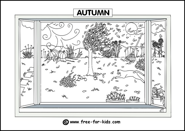 Fall Coloring Pages For Kids Seasons Colouring Pages