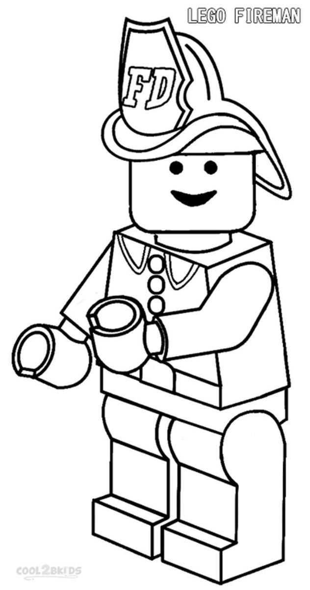 Firefighter Coloring Pages Firefighter Coloring Page