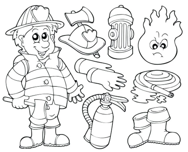 Firefighter Coloring Pages Fireman Printable Coloring Pages Best Coloring Pages Collection