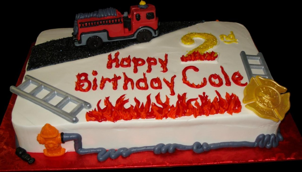 Cool Fireman Birthday Cake 11 Firefighter Sheet Cakes Photo Decorated Funny Birthday Cards Online Sheoxdamsfinfo