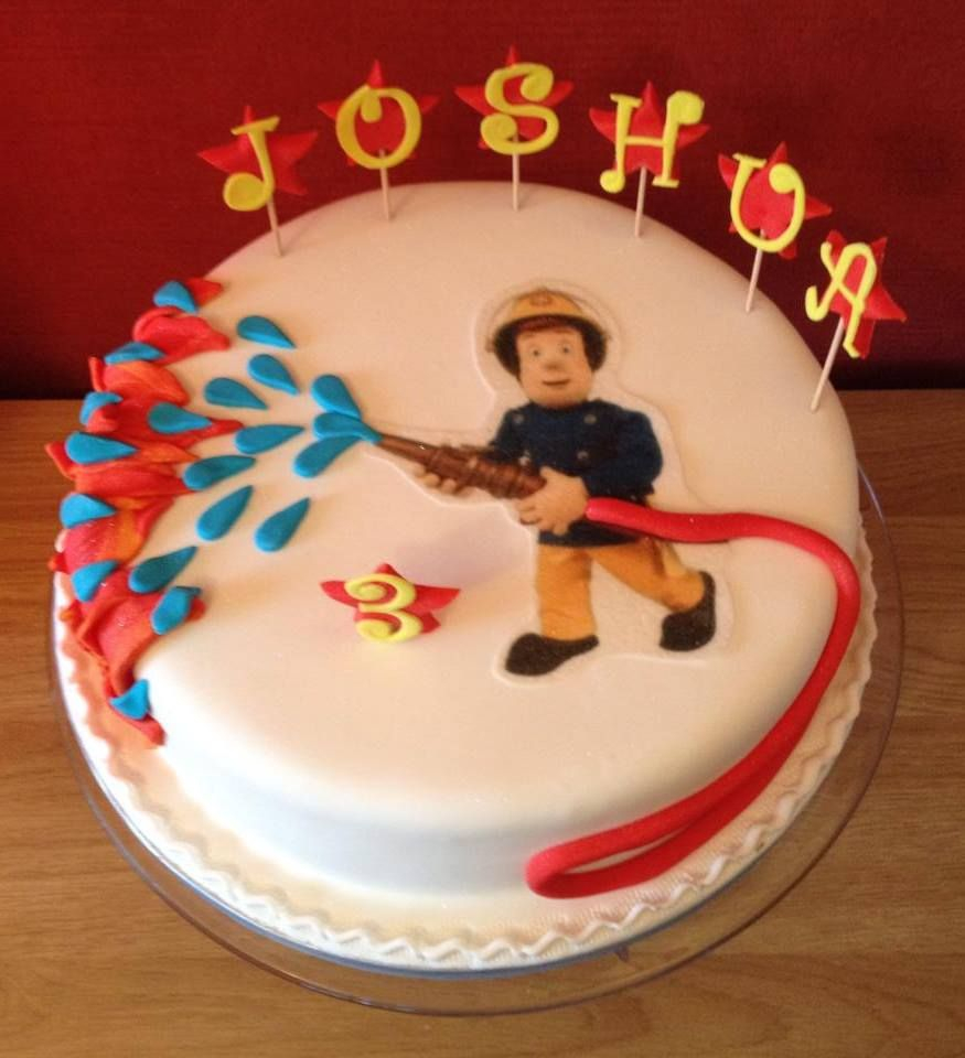 Stupendous Fireman Birthday Cake Fireman Sam Cake Cakes Fireman Sam Cake Cake Funny Birthday Cards Online Alyptdamsfinfo