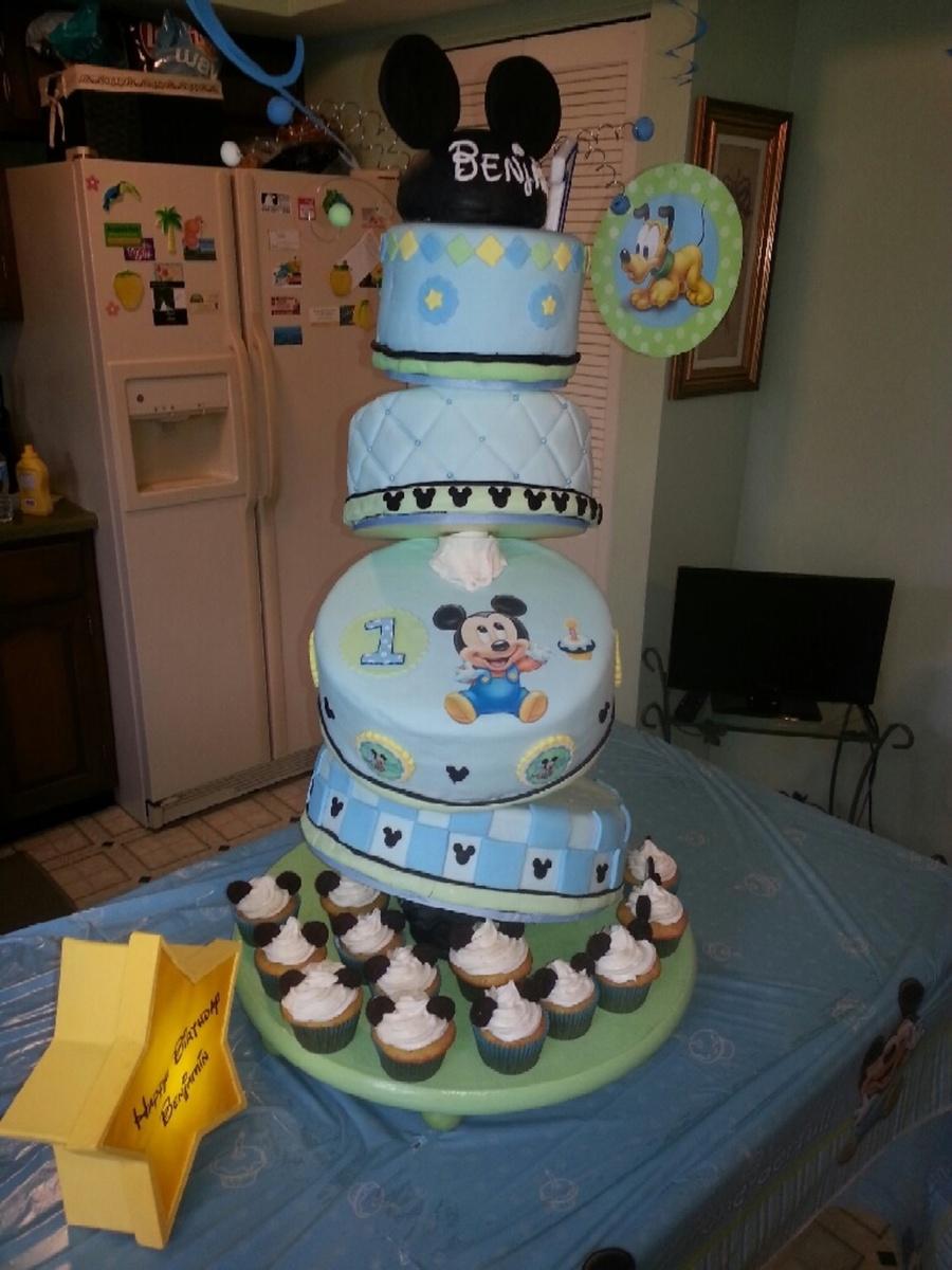Pleasant First Birthday Cake Boy Ba Mickey Cake For Boy First Birthday Funny Birthday Cards Online Aeocydamsfinfo