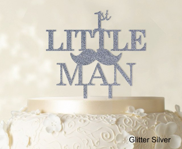 First Birthday Cake Toppers 1st Little Manbirthday Cake Topper Moustache Cake Topper 6 7 Wide