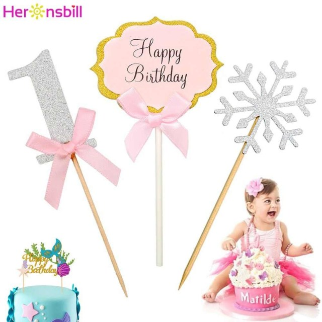 First Birthday Cake Toppers Detail Feedback Questions About Heronsbill Happy Birthday Cupcake