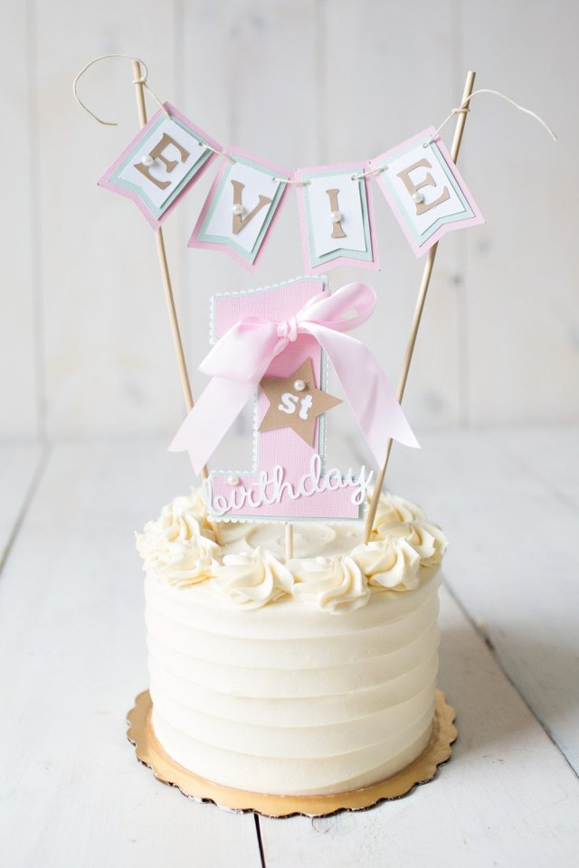 First Birthday Cake Toppers Girl First Birthday First Birthday Decorations 1st Birthday Cake