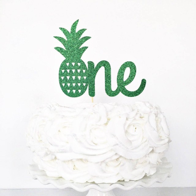 First Birthday Cake Toppers One Cake Topper Pineapple One Cake Topper 1st Birthday Etsy