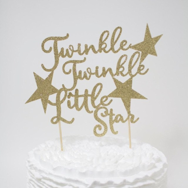 First Birthday Cake Toppers Twinkle Twinkle Little Star Cake Topper Ba Shower First Birthday