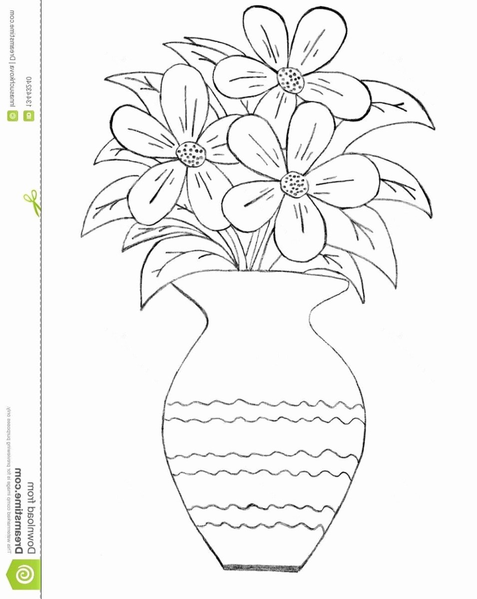 12+ Heavenly Pink Vases Decor Ideas | Flower coloring pages ... | 1200x955