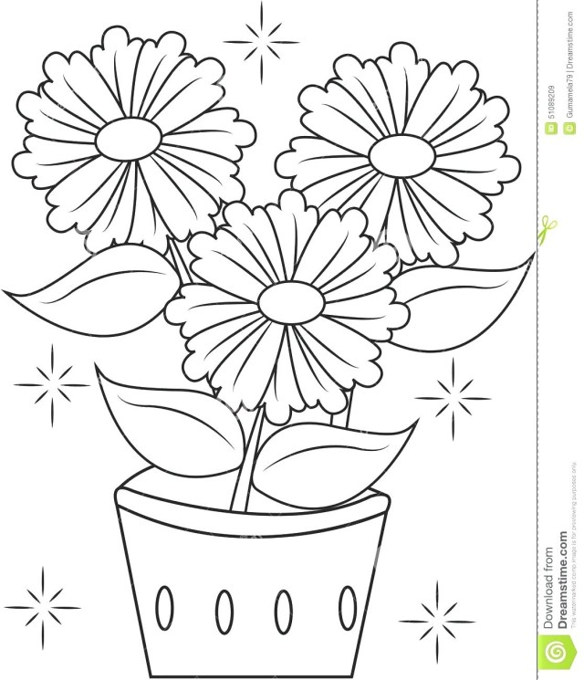 Flower Pot Coloring Page Flower Page Printable Coloring Sheets Pot New Vietti