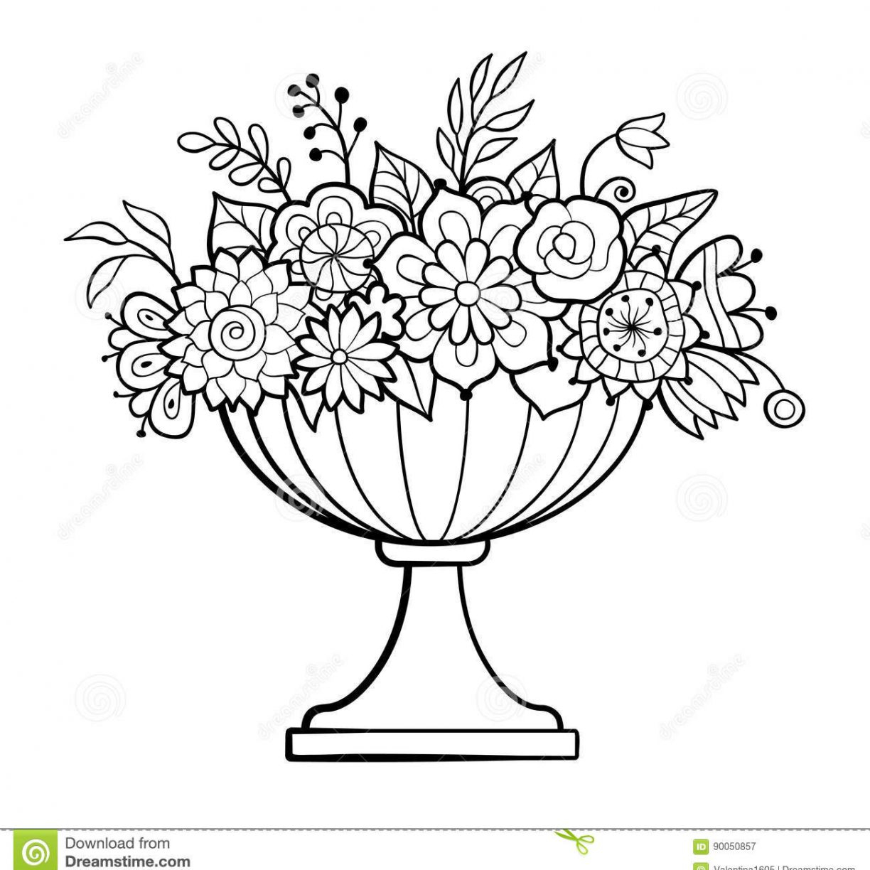 graphic about Printable Flower Pot identified as Flower Pot Coloring Site Flower Pot Coloring Site Vacant