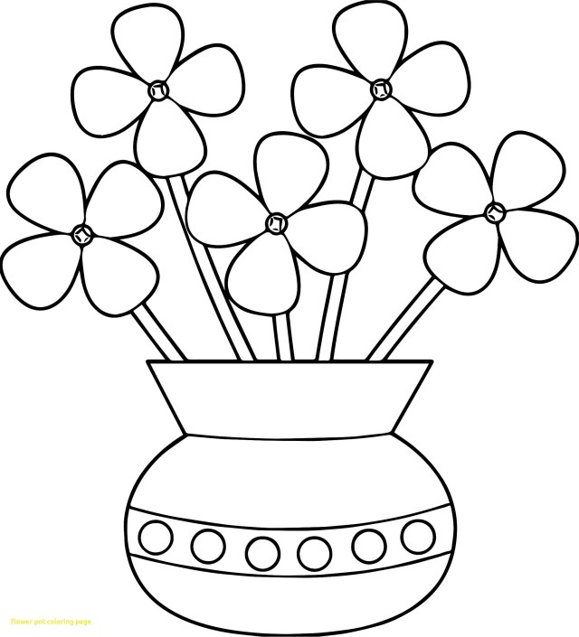Flower Pot Coloring Page Fresh Coloring Page Flower Pot Superkepo