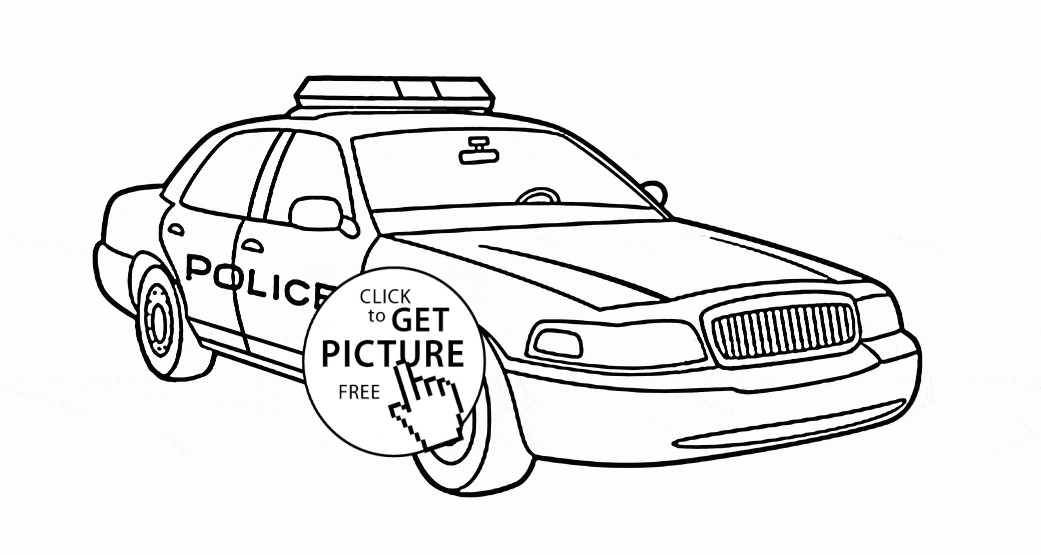 - Free Car Coloring Pages Coloring Pages Free Printable Police Car