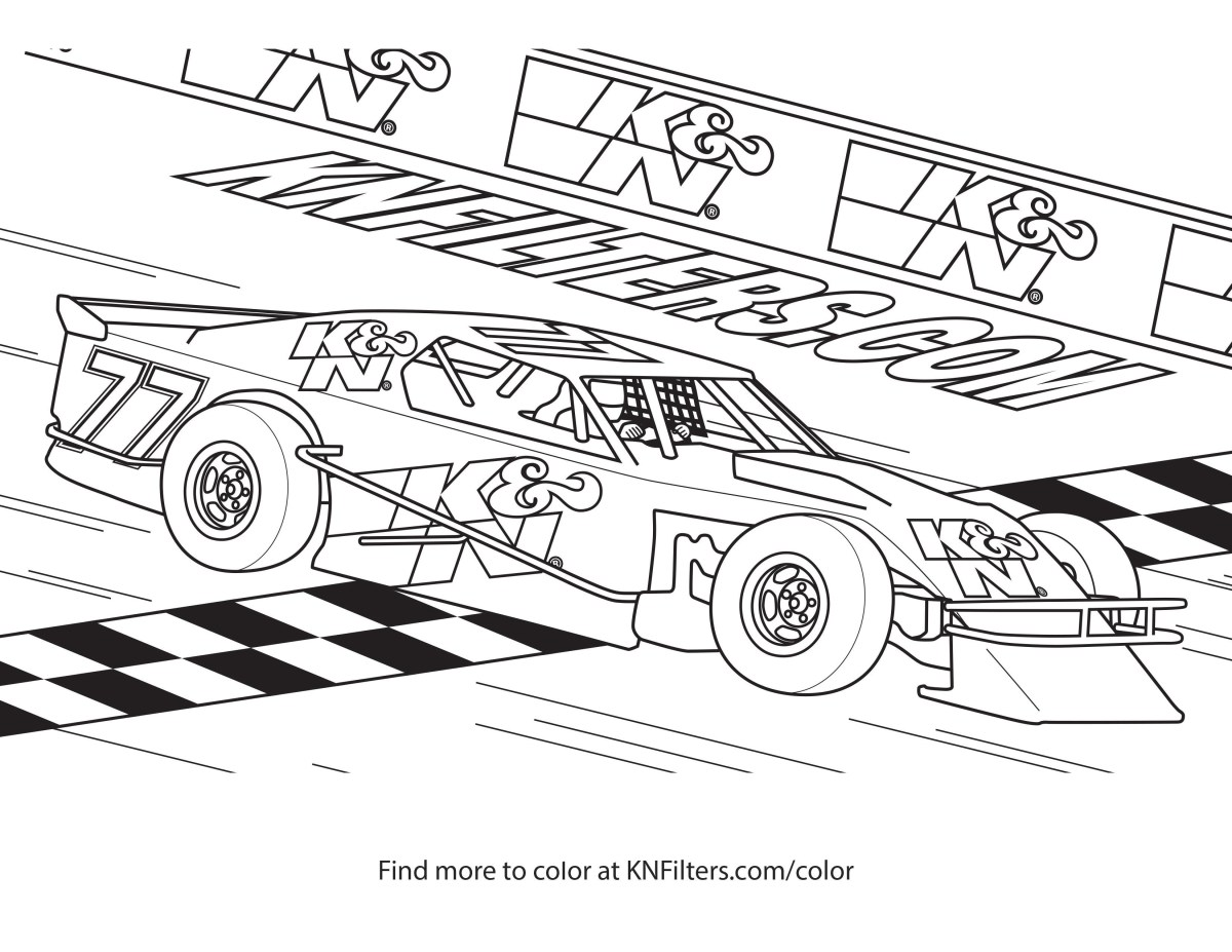 Free Car Coloring Pages Race Car Coloring Pages Knble For Kids Modified  Free Sports To Print - birijus.com