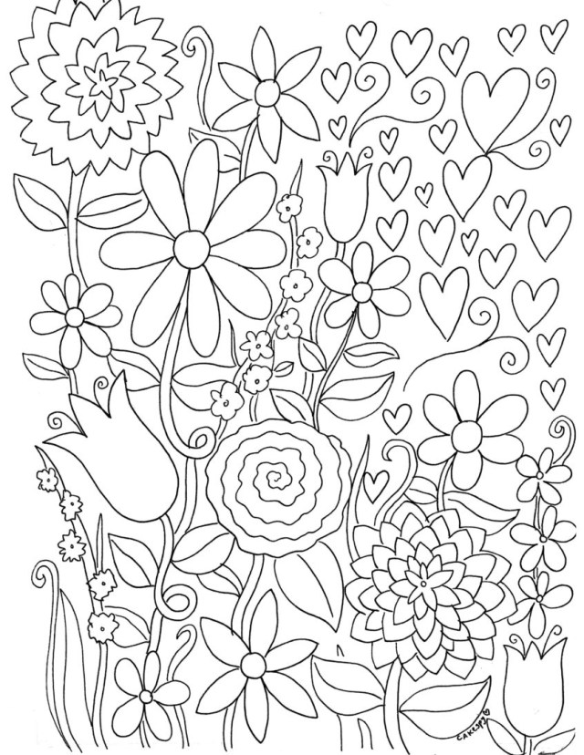 Easy Coloring Pages for Adults - Best Coloring Pages For Kids | 828x640