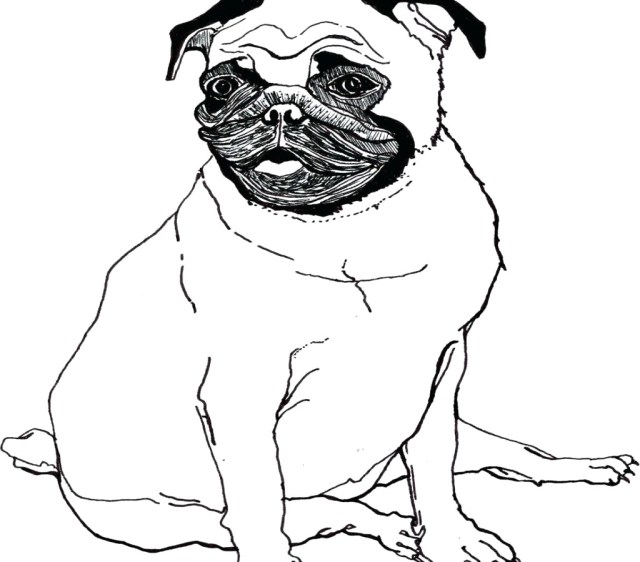 Free Dog Coloring Pages Cute Pug Dog Coloring Page Free Printable Pages Animals
