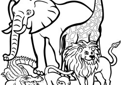 Free Printable Animal Coloring Pages African Animals Coloring Pages Free Printable Pictures