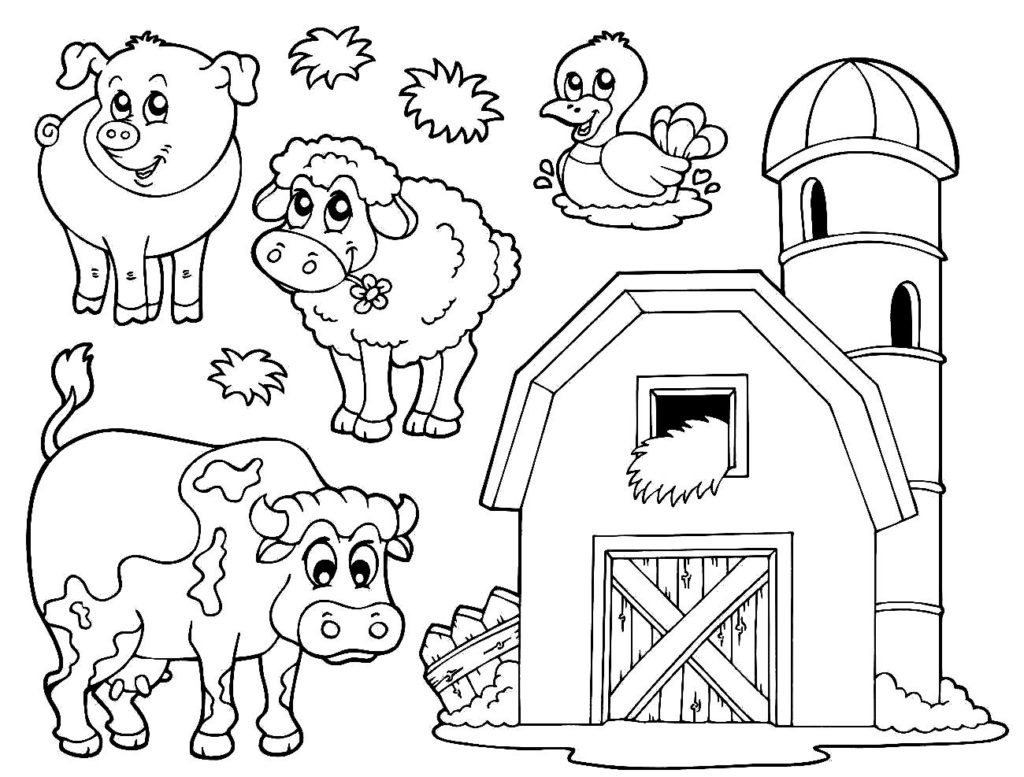 Free Printable Animal Coloring Pages Farm Coloring Pages Printable At Getdrawings Free For Personal