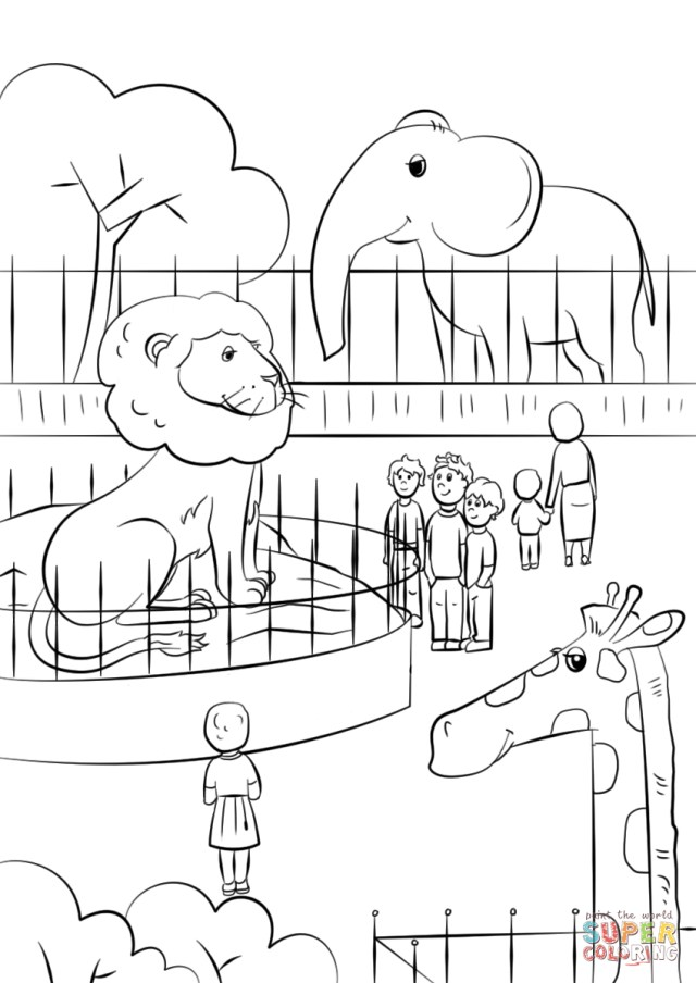 Free Printable Animal Coloring Pages Zoo Animals Coloring Page Free Printable Coloring Pages