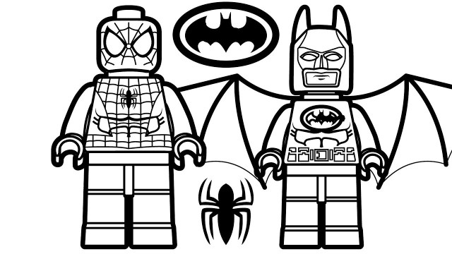 Free Superhero Coloring Pages Batman Coloring Book Pages Lego Spiderman And Lego Batman Coloring