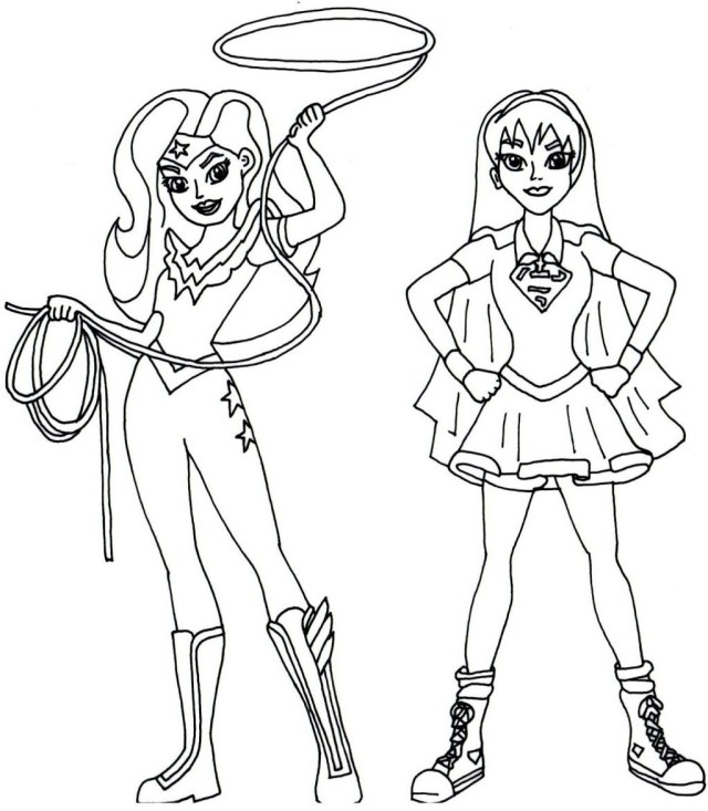Free Superhero Coloring Pages Coloring Pages Girl Superheroring Pages For Kids Superheroes To