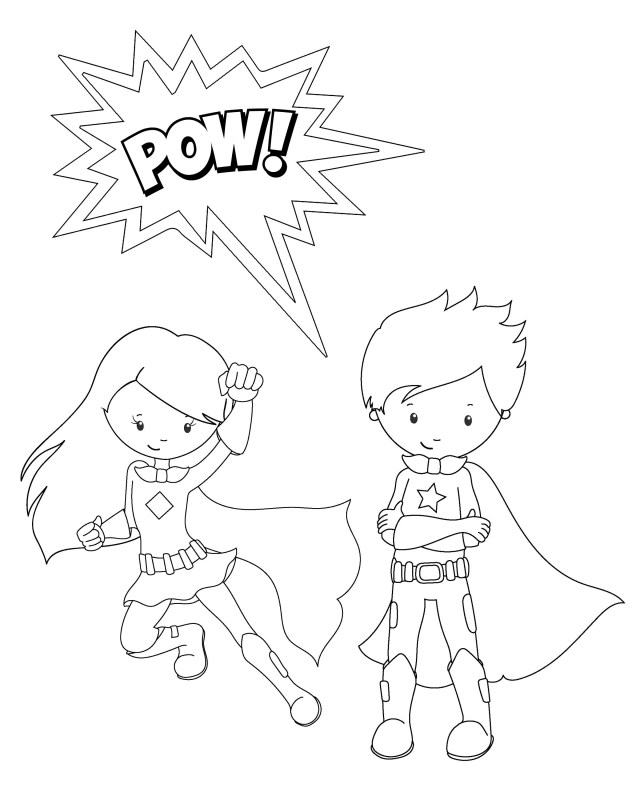 Free Superhero Coloring Pages Free Printable Superhero Coloring Sheets For Kids Summer Camp Best