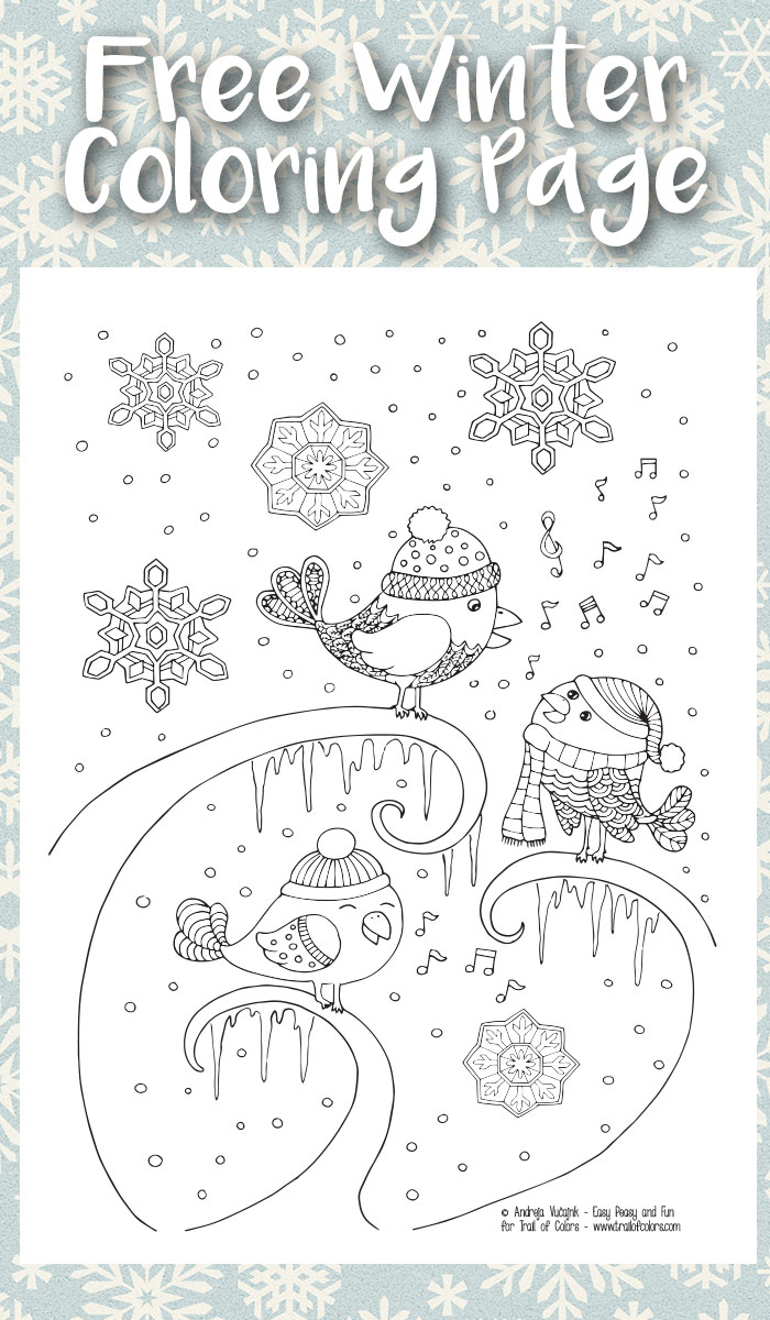Free Winter Coloring Pages Free Printable Winter Coloring ...