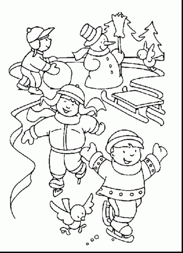 Free Winter Coloring Pages Free Winter Coloring Pages For Kindergarten Winter Coloring Pages