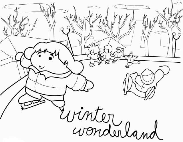 Free Winter Coloring Pages Free Winter Coloring Pages Luxury Winter Coloring Page Printable