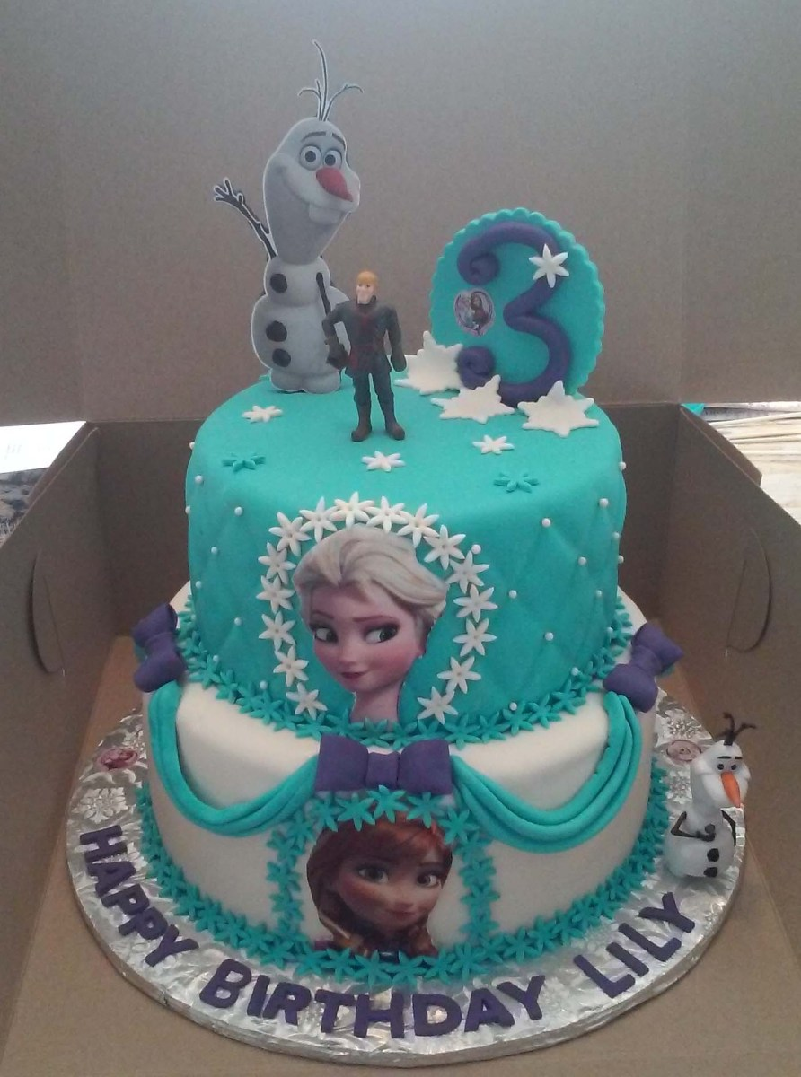 Awe Inspiring Frozen Birthday Cake Ideas 2 Tier Elsa And Anna Frozen Themed Personalised Birthday Cards Paralily Jamesorg