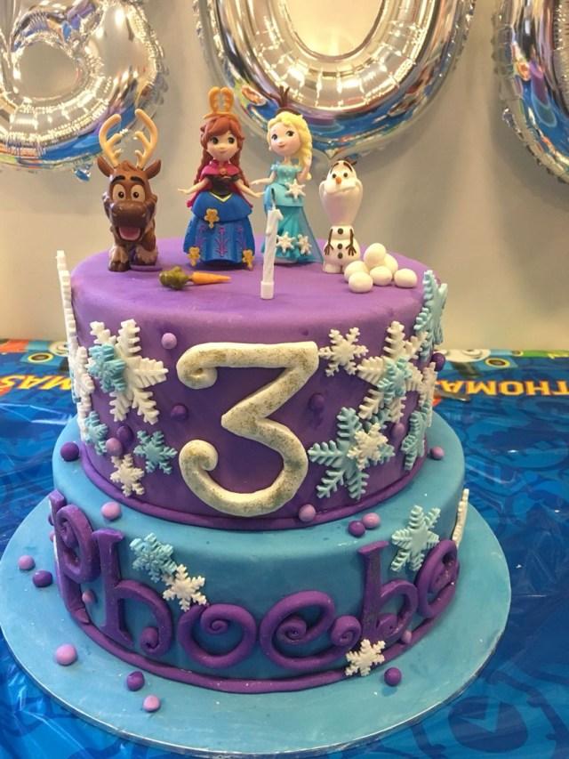 Frozen Birthday Cake Ideas Frozen Birthday Cake Frozen Cake Purple Blue Olaf Anna Elsa