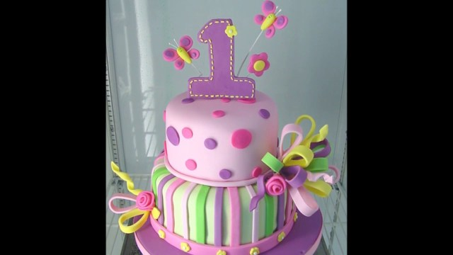 Girls Birthday Cake Ideas Ba Girl 1st Birthday Cake Photos Youtube