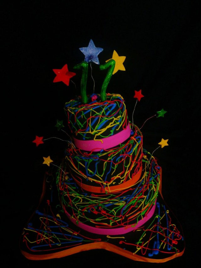 Glow In The Dark Birthday Cake Pin Chrissy Tompkins On Glow In The Dark Neon Birthday Ideas