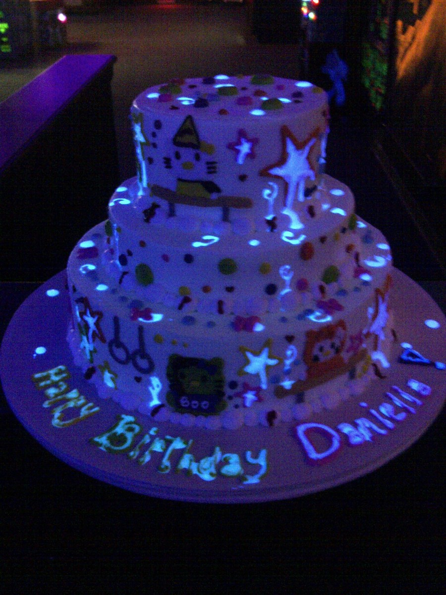 Magnificent Glow In The Dark Birthday Cake The Makery Is Denvers Source For Funny Birthday Cards Online Eattedamsfinfo