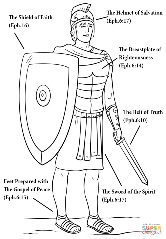 God Coloring Pages Armour Of God Coloring Page Free Printable Coloring Pages
