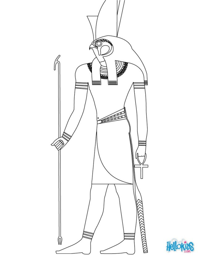 God Coloring Pages Horus Egyptian God Coloring Pages Hellokids