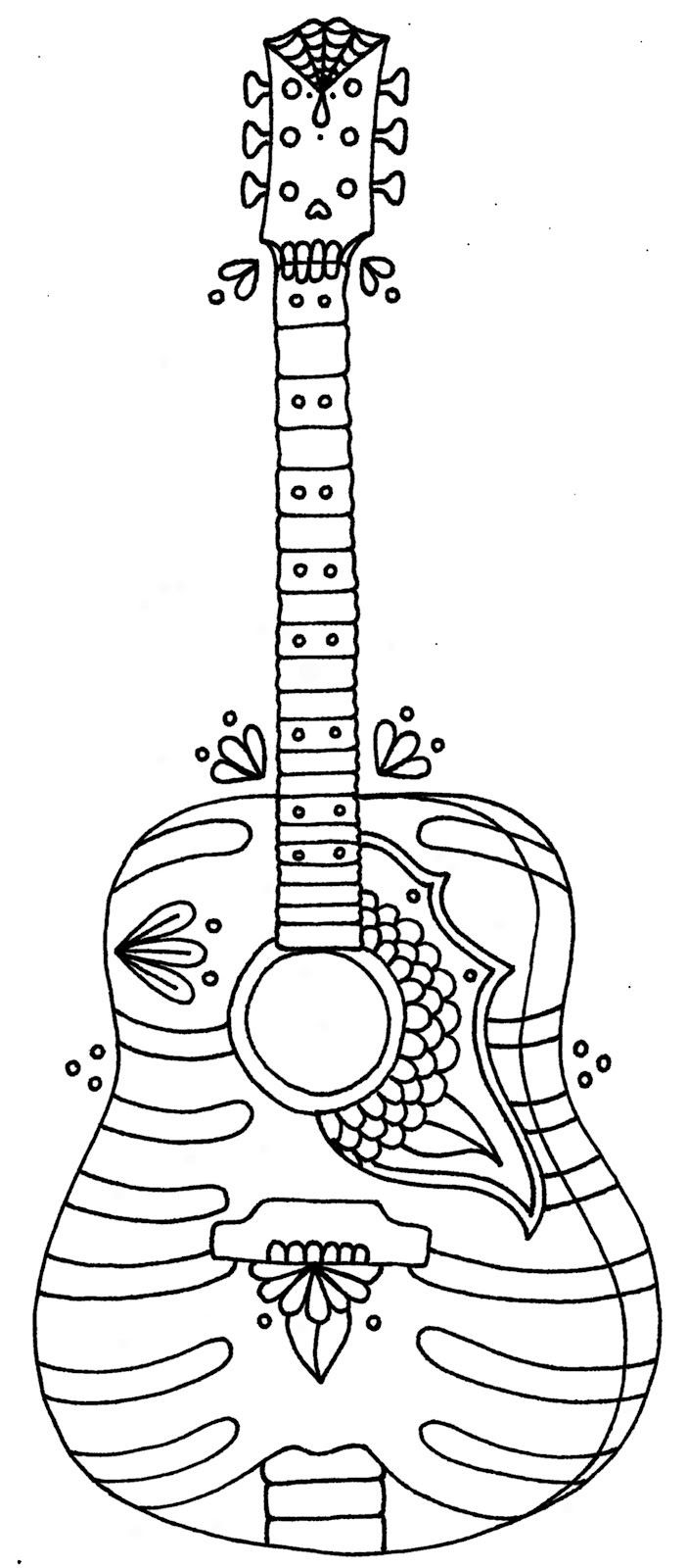 Guitar Coloring Page Full Guitar Colouring Pages Free Printable Coloring Page For Your Birijus Com