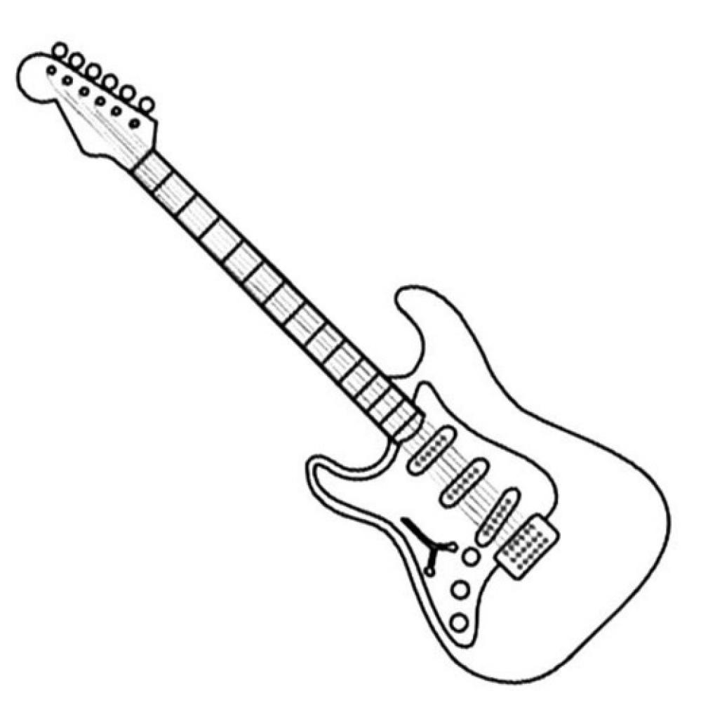 - Guitar Coloring Page Guitar Coloring Page 53 With Gerrydraaisma