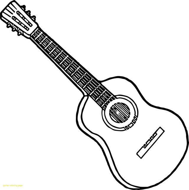 cool guitar coloring pages | 23+ Creative Picture of Guitar Coloring Page - birijus.com