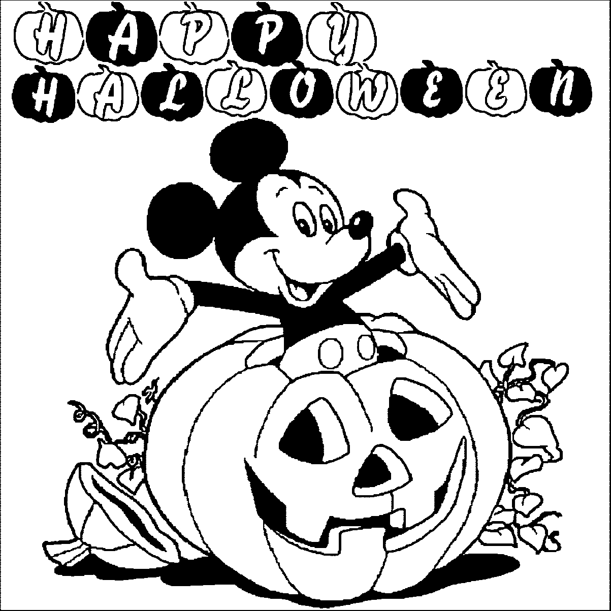 - Halloween Coloring Page Mickey Halloween Coloring Pages Halloween