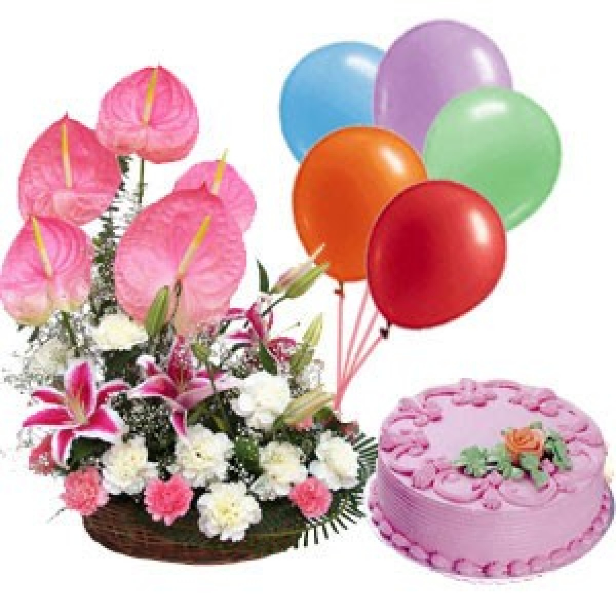 Swell Happy Birthday Cake And Flowers 11 Exotic Birthday Cakes Floral Funny Birthday Cards Online Alyptdamsfinfo