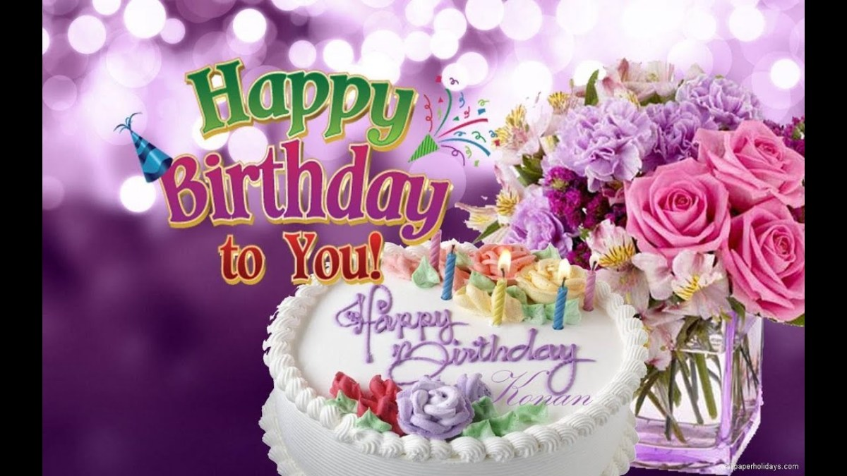 Remarkable Happy Birthday Cake And Flowers Happy Birthday To You Photo Personalised Birthday Cards Paralily Jamesorg