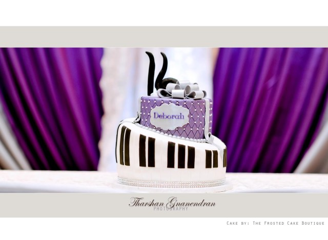 Happy Birthday Deborah Cake The Frosted Cake Boutique The Royal Purple Musical Themed Birthday Cake