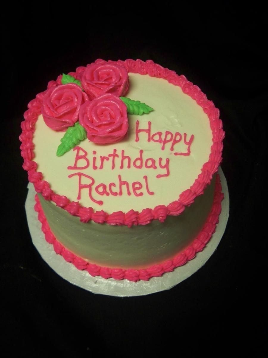 Miraculous Happy Birthday Rachel Cake Pink Rose Birthday Cake Cakecentral Funny Birthday Cards Online Benoljebrpdamsfinfo