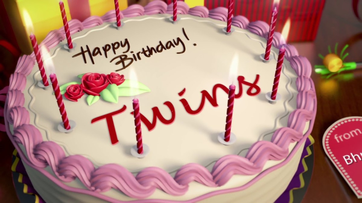 Pleasant Happy Birthday Twins Cake Happy Birthday Twins Youtube Birijus Com Funny Birthday Cards Online Fluifree Goldxyz