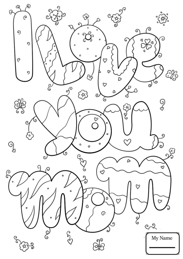 Happy Mothers Day Coloring Pages Cool Coloring Pages For Kids Holidays Mothers Day Happy Mother S Day