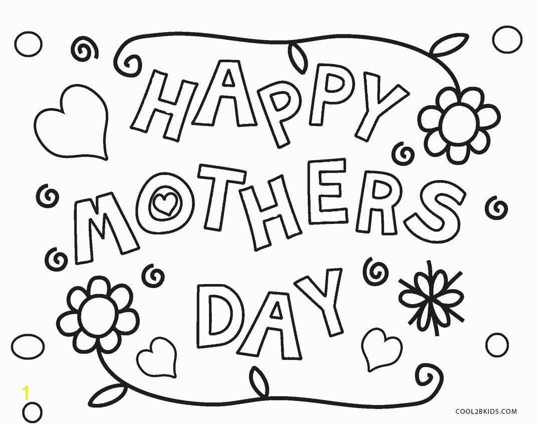 Happy Mothers Day Coloring Pages Free Printable Happy Mothers Day