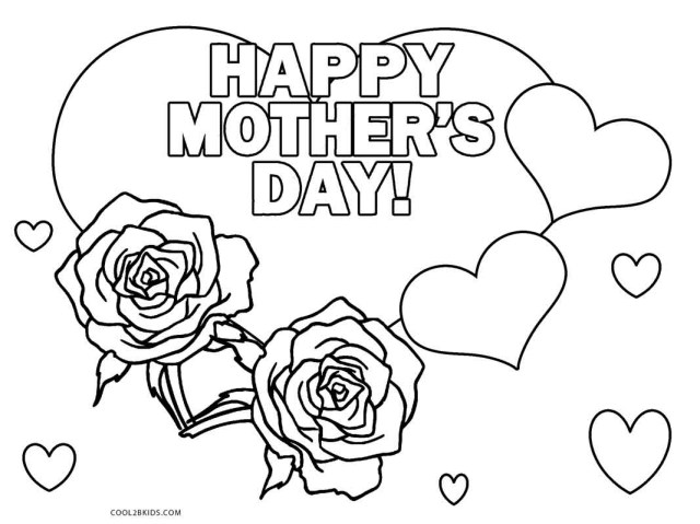 Happy Mothers Day Coloring Pages Free Printable Mothers Day Coloring Pages For Kids Cool2bkids