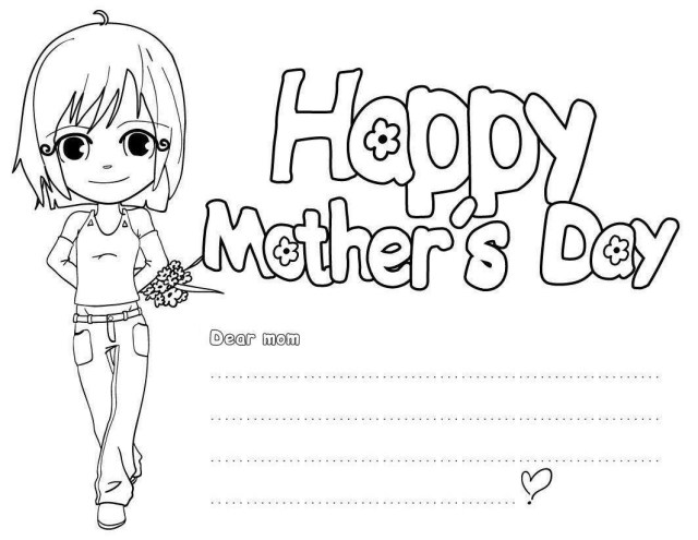 Happy Mothers Day Coloring Pages Happy Mothers Day Coloring Page Coloring Pages For Children