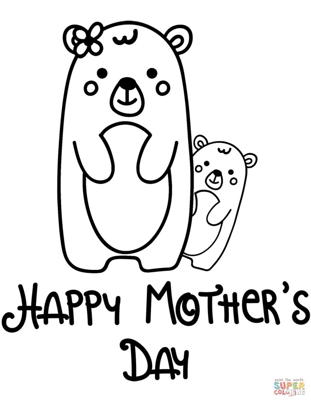Happy Mothers Day Coloring Pages Happy Mothers Day Coloring Page Free Printable Coloring Pages