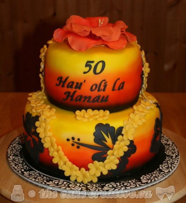 Hawaiian Birthday Cake Hawaiian 50th Birthday Cake Vanilla Cake With Mango Cream Flickr